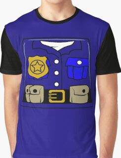 Cop Policeman Minifig Graphic T-Shirt