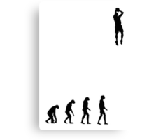 Evolved to play Basketball Canvas Print