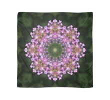 Sparkling constellation of Verbena flowers mandala Scarf