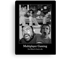 Multiplayer Gaming - Black and White Canvas Print