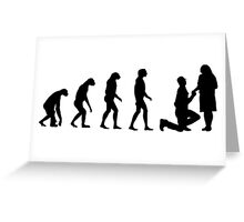 Evolved to Engagement Greeting Card