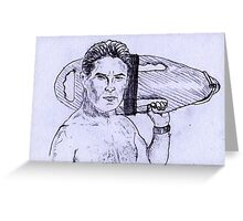 David Hasselhoff on duty Greeting Card