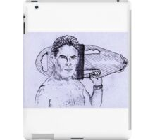 David Hasselhoff on duty iPad Case/Skin