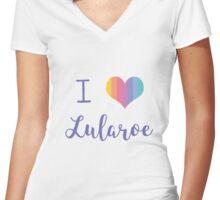 I Love Lularoe Women's Fitted V-Neck T-Shirt