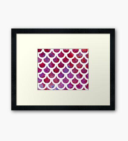 Mermaid Scales Purple Framed Print
