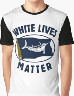 White Marlin Lives Matter Graphic T-Shirt