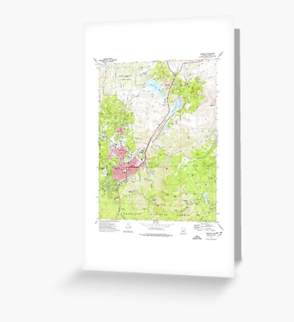USGS TOPO Map Arizona AZ Prescott 312984 1973 24000 Greeting Card