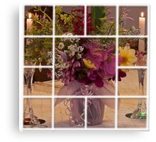 Flowers For Ruby Photo Collage  Canvas Print