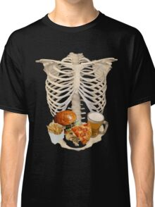 funny halloween Fast Food in Human Skeleton  Classic T-Shirt