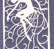 Night Fairy Paper Cut by Lynne Kells (earthangel)