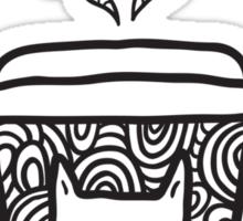 doodle coffee cat Sticker
