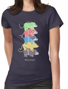 Lion Stack Womens Fitted T-Shirt