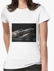 RAF Spitfire in the Hanger Womens Fitted T-Shirt