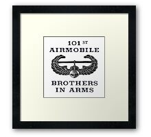 Airmobile Wings - 101st Airmobile - Brothers in Arms Framed Print