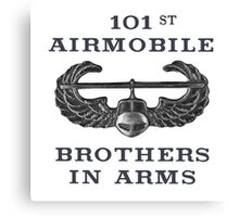 Airmobile Wings - 101st Airmobile - Brothers in Arms Canvas Print
