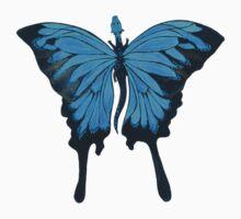 Blue Mountain Butterfly Dragon Kids Tee