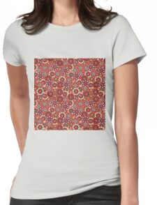 Japanese Flower Pattern Womens Fitted T-Shirt