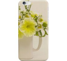 Teapot Of Yellow Petunias And Daisies  iPhone Case/Skin