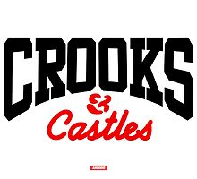 BLACK & RED CROOKS CORE LOGO by CROOKSCREW