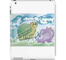 turtle and hedgehog pals iPad Case/Skin