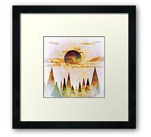 Arctic Moon Framed Print