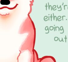 """""""No One Knows What They're Doing"""" Shiba Sticker"""