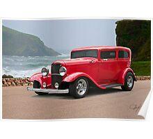 1932 Ford 'chopped top' Sedan Poster