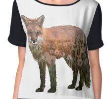 Fox Double Exposure Chiffon Top
