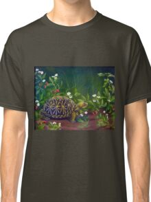 Florida Box Turtle, Strawberries and Blooms Classic T-Shirt
