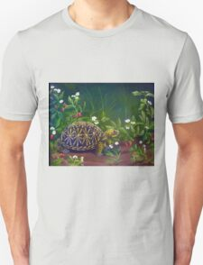 Florida Box Turtle, Strawberries and Blooms Unisex T-Shirt
