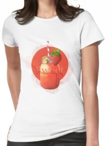 Sweet Strawberry Womens Fitted T-Shirt