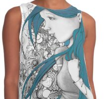 Every thought blue version Contrast Tank