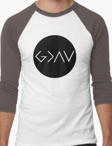 God Is Greater Than the Highs and Lows Men's Baseball ¾ T-Shirt