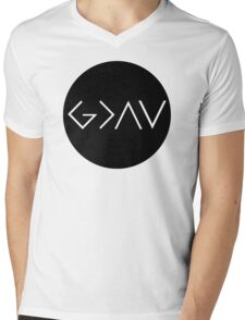 God Is Greater Than the Highs and Lows Mens V-Neck T-Shirt