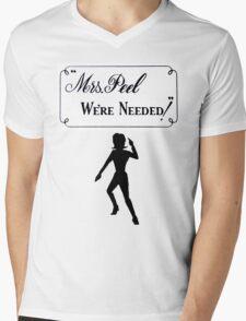 Mrs Peel - We're Needed 2 Mens V-Neck T-Shirt