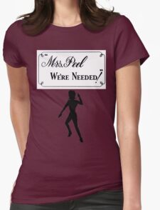 Mrs Peel - We're Needed 2 Womens Fitted T-Shirt