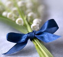 Blue silk ribbon by JBlaminsky