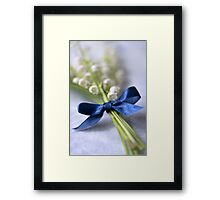 Blue silk ribbon Framed Print