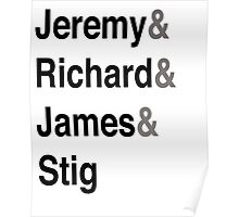 Jeremy & Richard & James & Stig Poster