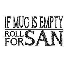If Mug Is Empty (White) Photographic Print