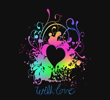 Multi Colors - With Love Heart Classic T-Shirt
