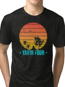 Visit Tropical Yavin Four! Tri-blend T-Shirt