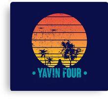 Visit Tropical Yavin Four! Canvas Print