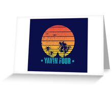 Visit Tropical Yavin Four! Greeting Card