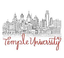 Temple University skyline Photographic Print