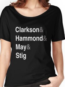 Clarkson & Hammond & May & Stig Women's Relaxed Fit T-Shirt