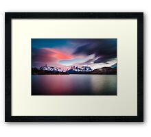 Cuernos del Paine Framed Print