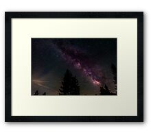 Milky way in the forest Framed Print