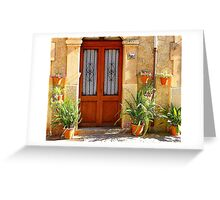 A Door With Ferns Greeting Card