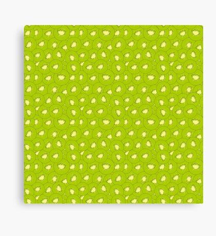 kiwi fruit green pattern Canvas Print